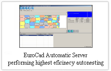 EuroCAD AutoMarker Server - performing highest eficiency autonesting