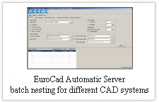 EuroCAD AutoMarker Server - batch nesting for different CAD systems