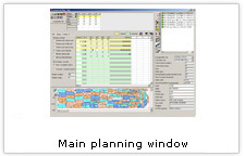 EuroCAD Spread&Cut Planner - main planning window