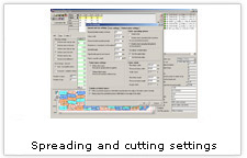 EuroCAD Spread&Cut Planner - spreading and cutting settings