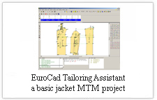 EuroCAD Tailoring Assistant - a basic jacket MTM project