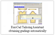 EuroCAD Tailoring Assistant - obtaining gradings automatically