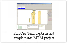 EuroCAD Tailoring Assistant - simple pants  MTM project
